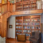 Two story library in Pier House