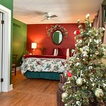 Winter room with Christmas tree