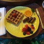 Pecan Waffle Breakfast