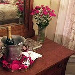 Champage and Flowers, Requested for Honeymoon!