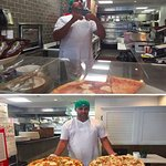 Mike in action - our customers love his chicken bacon ranch and buffalo chicken!