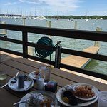 True waterfront dining. NB: casual dining, plastic beer cups, etc.