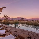 Pool area with the best view at Tierra Atacama