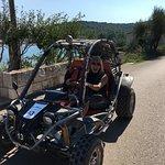 Dune buggy ride in Lumbarda on Korcula, Croatia