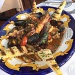 Hand made pasta with mixed shellfish