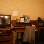 Desk TV area