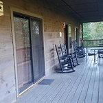 Front porch of the Lonestar 1 cabin
