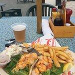 Shrimp tacos at pinchers