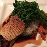 Salmon and Broccoli Rabe Entree