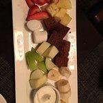 Dark chocolate fondue dippers