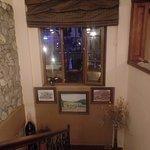 Restaurant staircase
