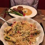 Crab Cake and Artichoke Pasta