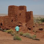 Wupatki Pueblo behind the Visitor Center