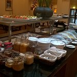 A view of the wide selection of culinary delights available at breakfast.