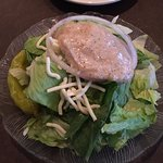 This is the house salad with the house dressing. The dressing is wonderful!