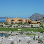 A view of the resort from the golf course.