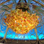 One of five chandeliers.