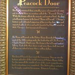 The story behind the gorgeous peacock door in the downstairs lobby