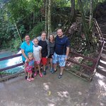 """Just by the famed """"Blue Hole."""" The tour includes both up- and downstream from this point."""