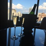 Birthday champagne with a view!