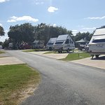Great RV park Concrete pads that are level.