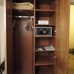 Wardrobe with safe, extra blanket, shoe shine kit and dry cleaning service