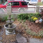 Fountain in front yard
