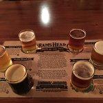 Beer Sampler - 5 regular on-tap brews and one seasonal brew