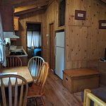 4-person cabin: Living room, kitchen, futon bed