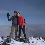 My hubs and I at the summit of Quandary 14,265 feet...not so bad for an east coast couple