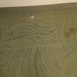 Carpet food stains at entry door