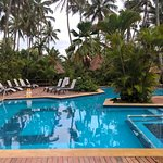This is the pool at Fiji Palms