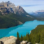Peyto Lake about ten minute hike from main viewing area