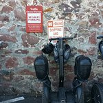 Segway parking at Vella Cheese factory/shop.