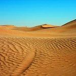 Moving sand dunes
