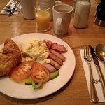 Breakfast , first morning.