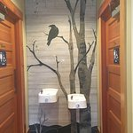 Even the entrance to loo is beautiful! Artist - Debbie Dickinson