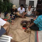 Kava ceremony by the pool