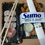 calamari and sushi