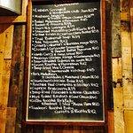 The menu in May 2016