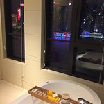 Room 1609 bathroom with view of Pudong