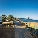 Hotel and restaurant is situated at the Dahab promenade