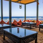 Bedouin style sitting with breathtaking sea view