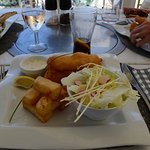 Cod, salad and fries