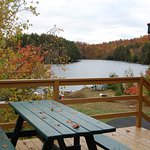 Looking from the deck to Lac Sugarbush.
