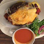 Baked potato with Chili and cheese