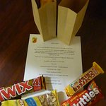 Welcome back letter with snacks!