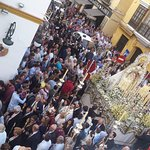 Virgen de las Nieves procession (October 2016) from our balcony