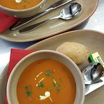 Beautiful soup of the day....... always a veggie option :)