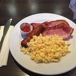 Harry's small breakfast. It still lasts all day!
